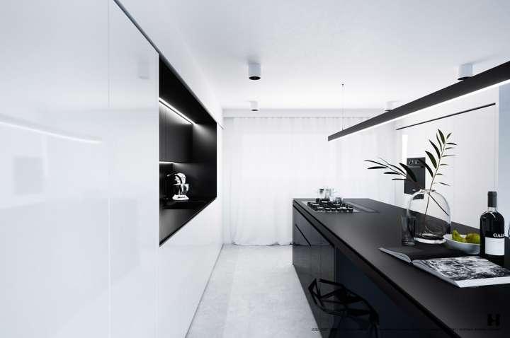 دکوراسیون آشپزخانه های باریک