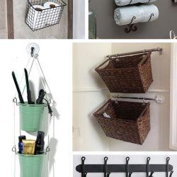 30 ایده آویز حمام برای به حداکثر رساندن فضای کاربردی حمام