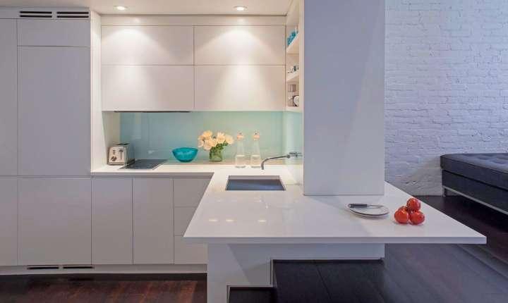 آشپزخانه L شکل مدرن