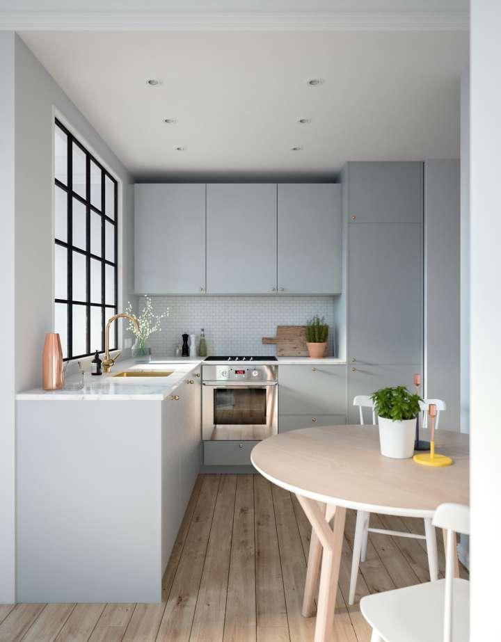طراحی آشپزخانه ال شکل