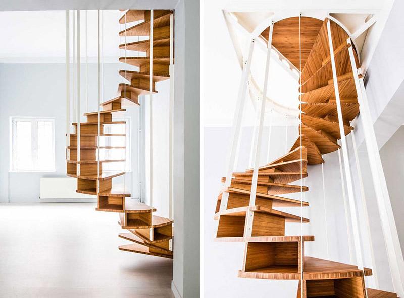 طراحی پله گرد