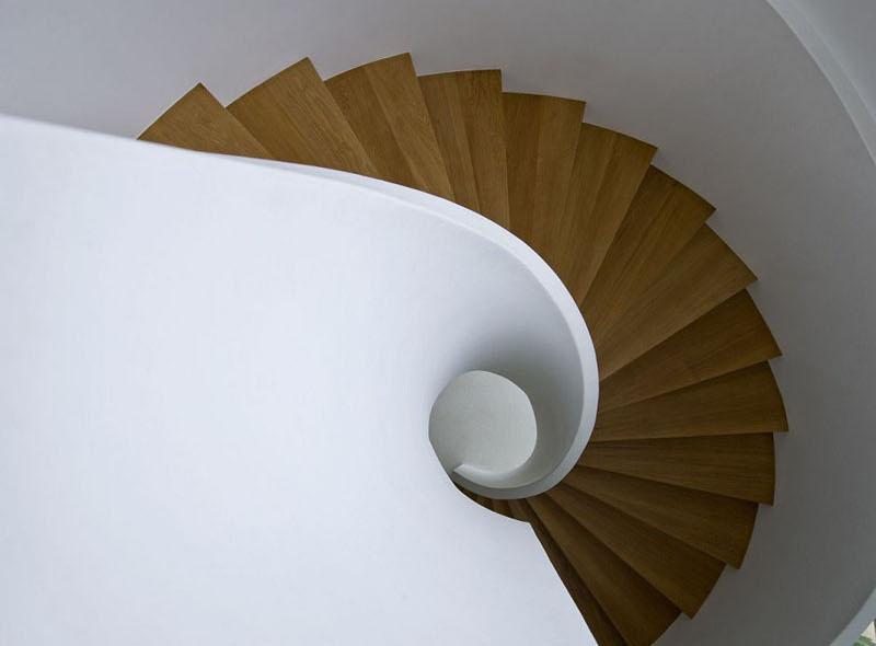 طراحی پله مارپیچ