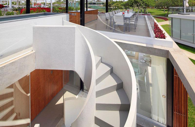 ایده های طراحی پله گرد