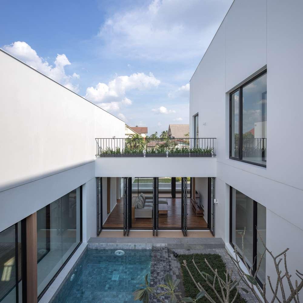طراحی ویلای خانوادگی با 3 حیاط