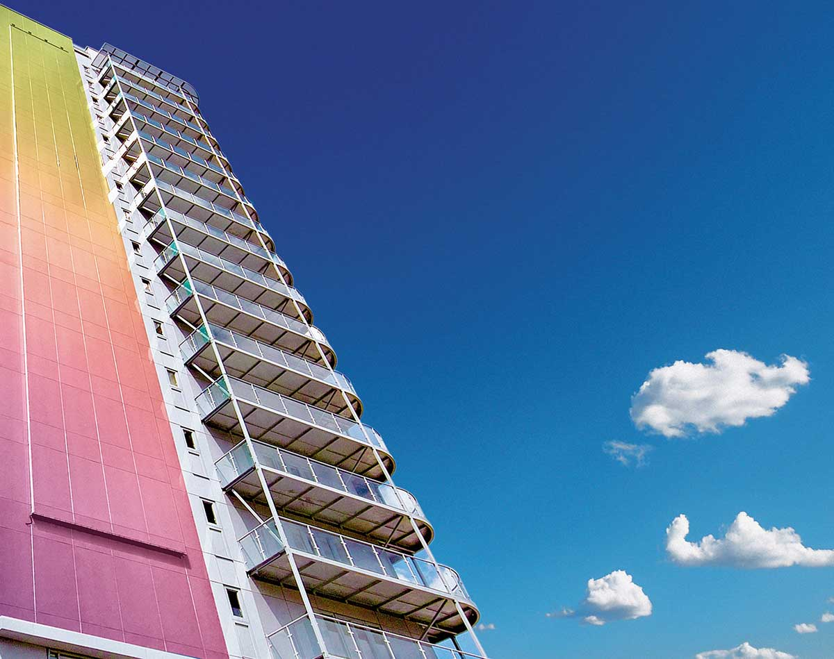 متریال پنل های رنگی نما با قابلیت تغییر رنگ