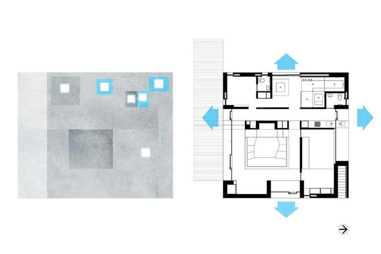پلان خانه مربع