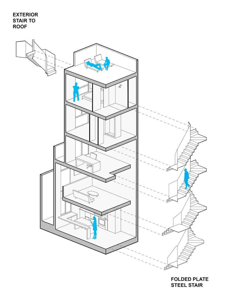 پلان آپارتمان برج کوچک