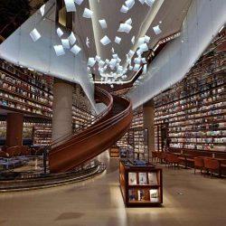 طراحی کتابفروشی مدرن در یک شهر باستانی