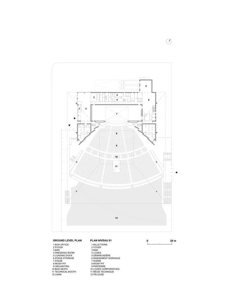 پلان سالن کنسرت روباز