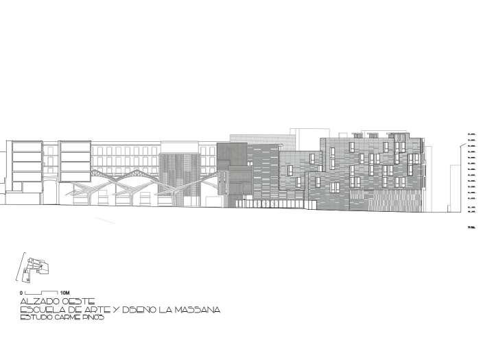 پلان دانشکده هنر بارسلونا