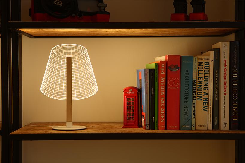 طراحی لامپ آکریلیکی سه بعدی