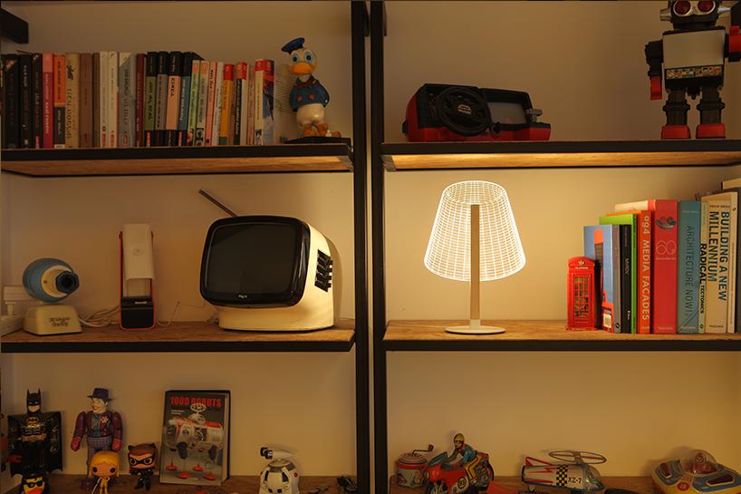 طراحی لامپ سه بعدی آکریلیکی