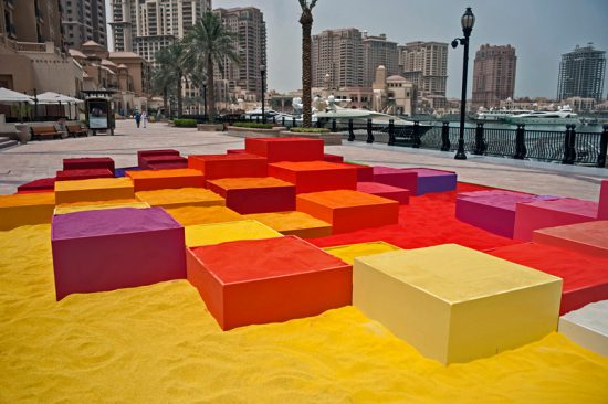 فضا سازی شهری با ماسه