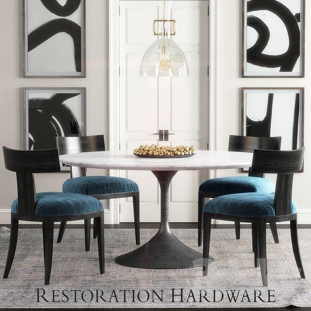 مدل سه بعدی میز و صندلی