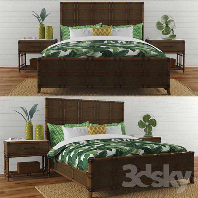 مدل سه بعدی ست تختخواب