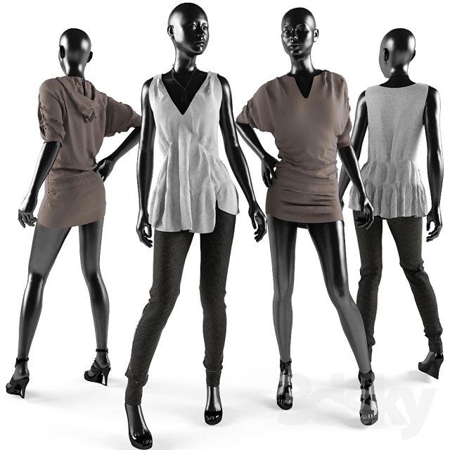 مدل سه بعدی پوشاک زنانه