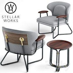 دانلود آبجکت ست صندلی مدرن
