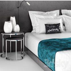 دانلود مجموعه مدل سه بعدی تخت و ست لوازم خواب کامل
