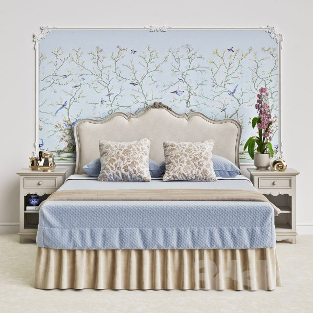 مجموعه آبجکت تخت خواب