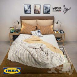 دانلود مدل سه بعدی ست تختخواب با طراحی مدرن