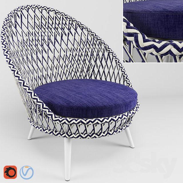 مدل سه بعدی صندلی مدرن