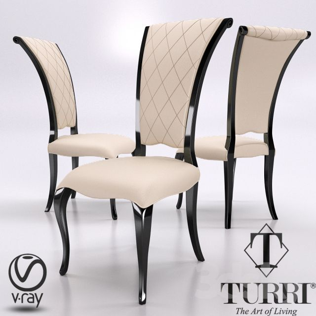مدل سه بعدی صندلی کلاسیک