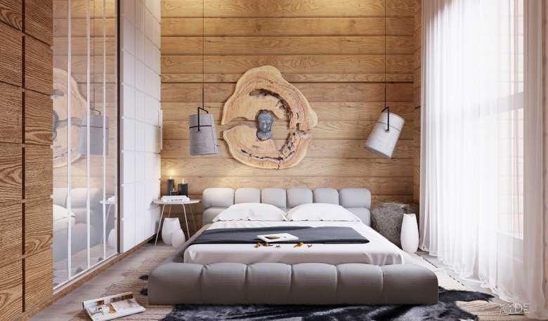 طراحی داخلی آپارتمان با چوب