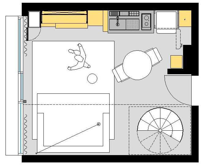 آپارتمان با متراژ کم