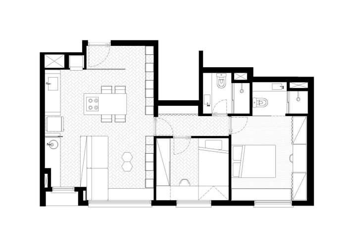 پلان آپارتمان 60 متری
