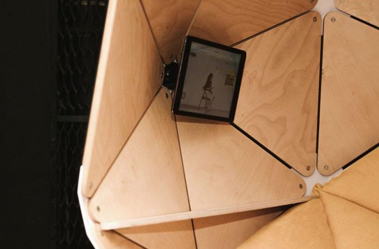 طراحی صندلی با فضای خصوصی برای یک نفر