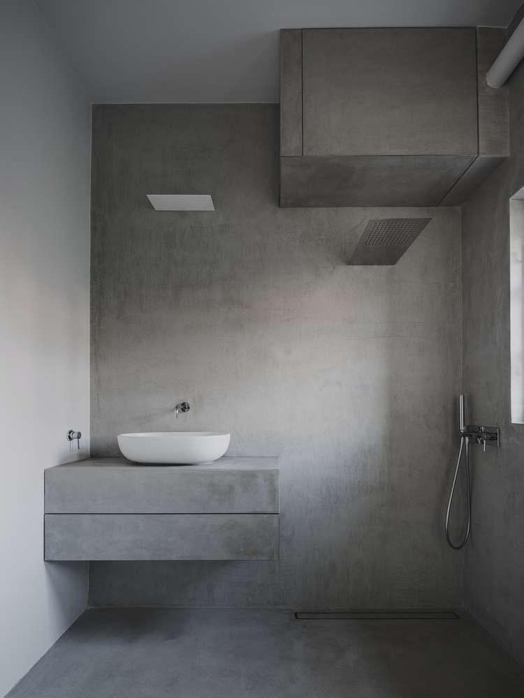 سرویس بهداشتی و حمام بتنی