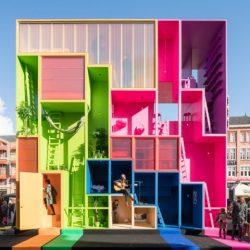 طراحی هتل رنگارنگ در هلند