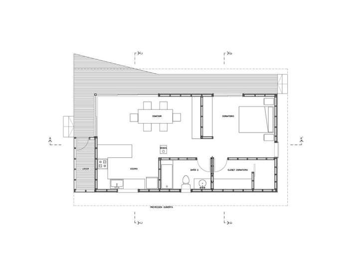 پلان خانه زیر 100 متر