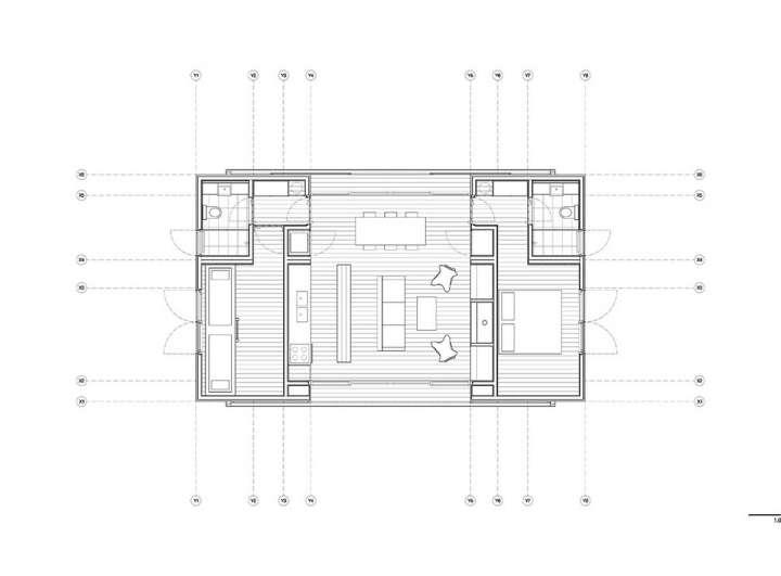 ایده طراحی پلان خانه زیر 100 متر