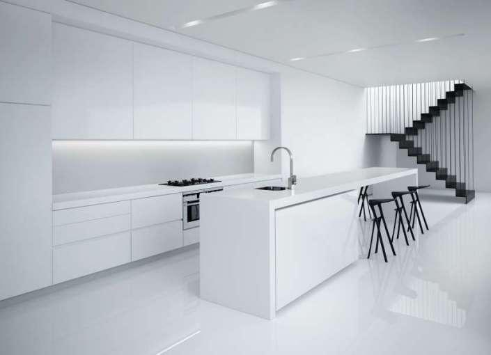 دکوراسیون آشپزخانه به سبک مینیمالیسیتی
