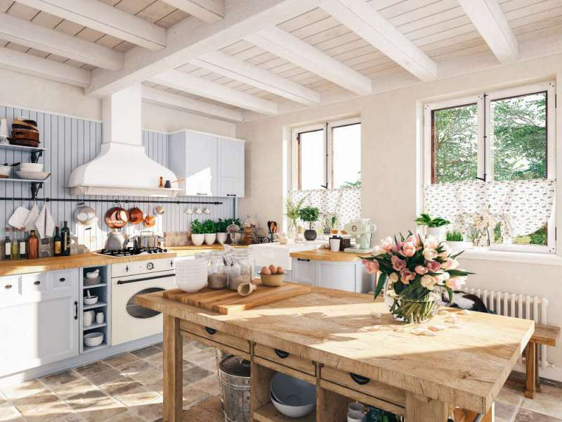 دکوراسیون آشپزخانه به سبک انگلیسی