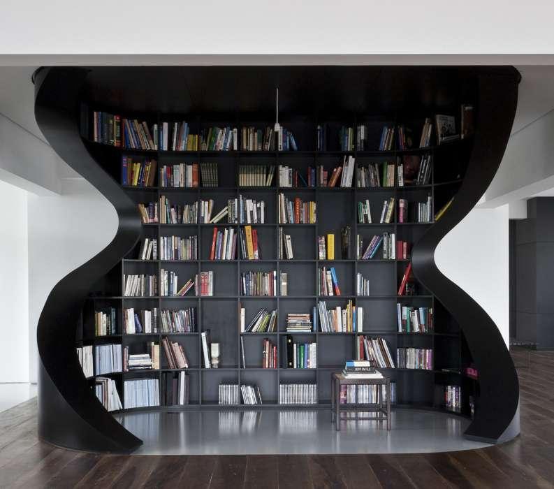 ایده های خلاقانه طراحی کتابخانه