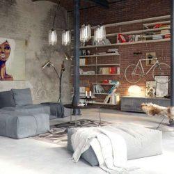 25 طراحی داخلی نشیمن با بتن