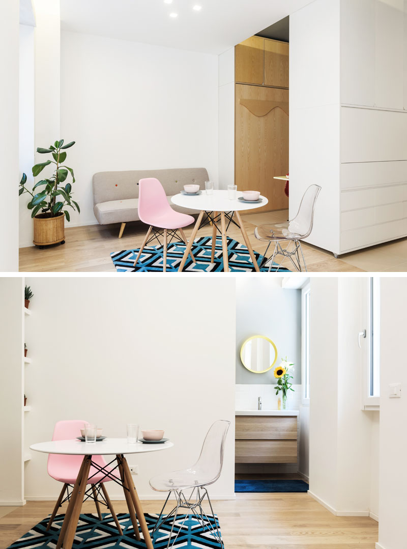 طراحی داخلی میکرو آپارتمان با دیوار متحرک