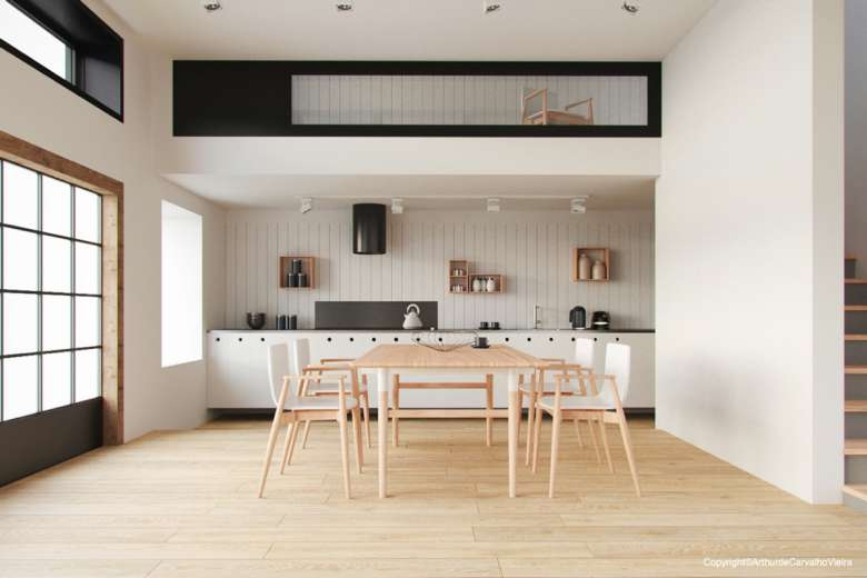 دکوراسیون اتاق غذا خوری به سبک مینیمال