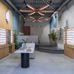طراحی داخلی عینک فروشی به سبک کلاسیک