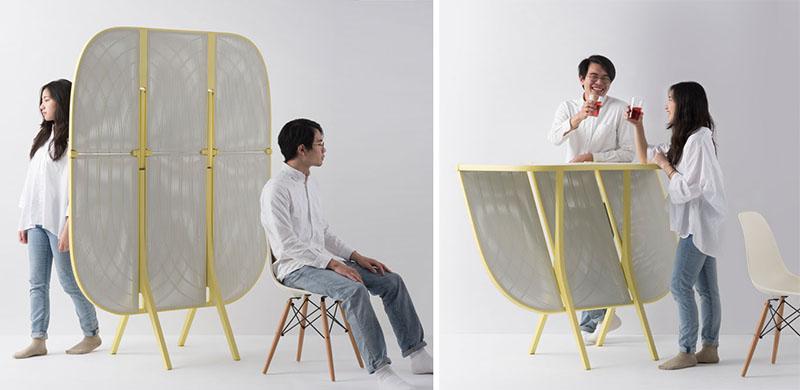 طراحی پارتیشن با قابلیت تبدیل به میز