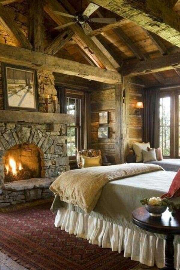 طراحی اتاق خواب به سبک روستیک