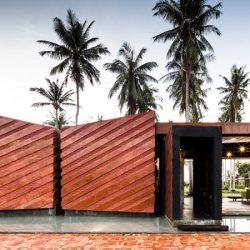 طراحی خانه ویلایی با نمای آجری