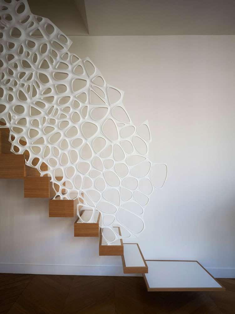 طراحی نرده راه پله نامتعارف