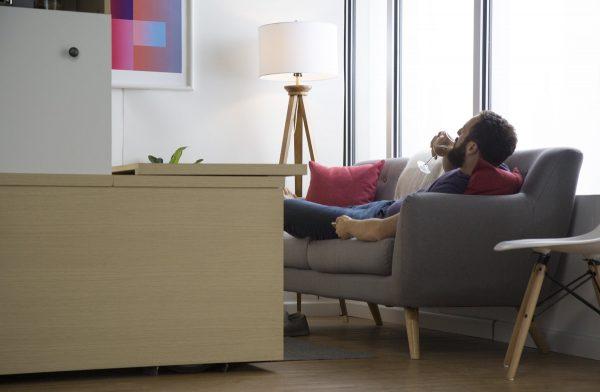 استفاده بهینه از فضا در یک آپارتمان کوچک