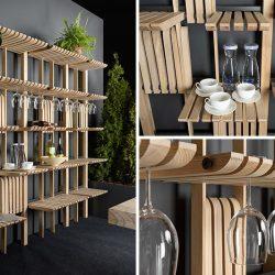 طراحی قفسه چوبی چند منظوره