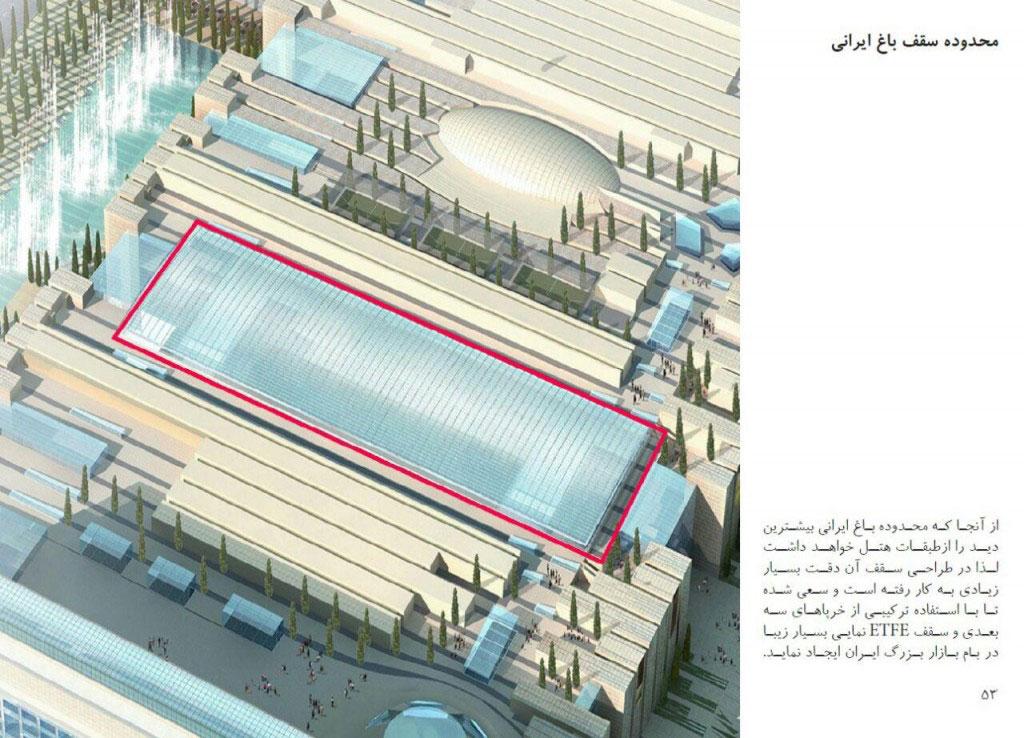 طراحی بازار بزرگ ایران مال