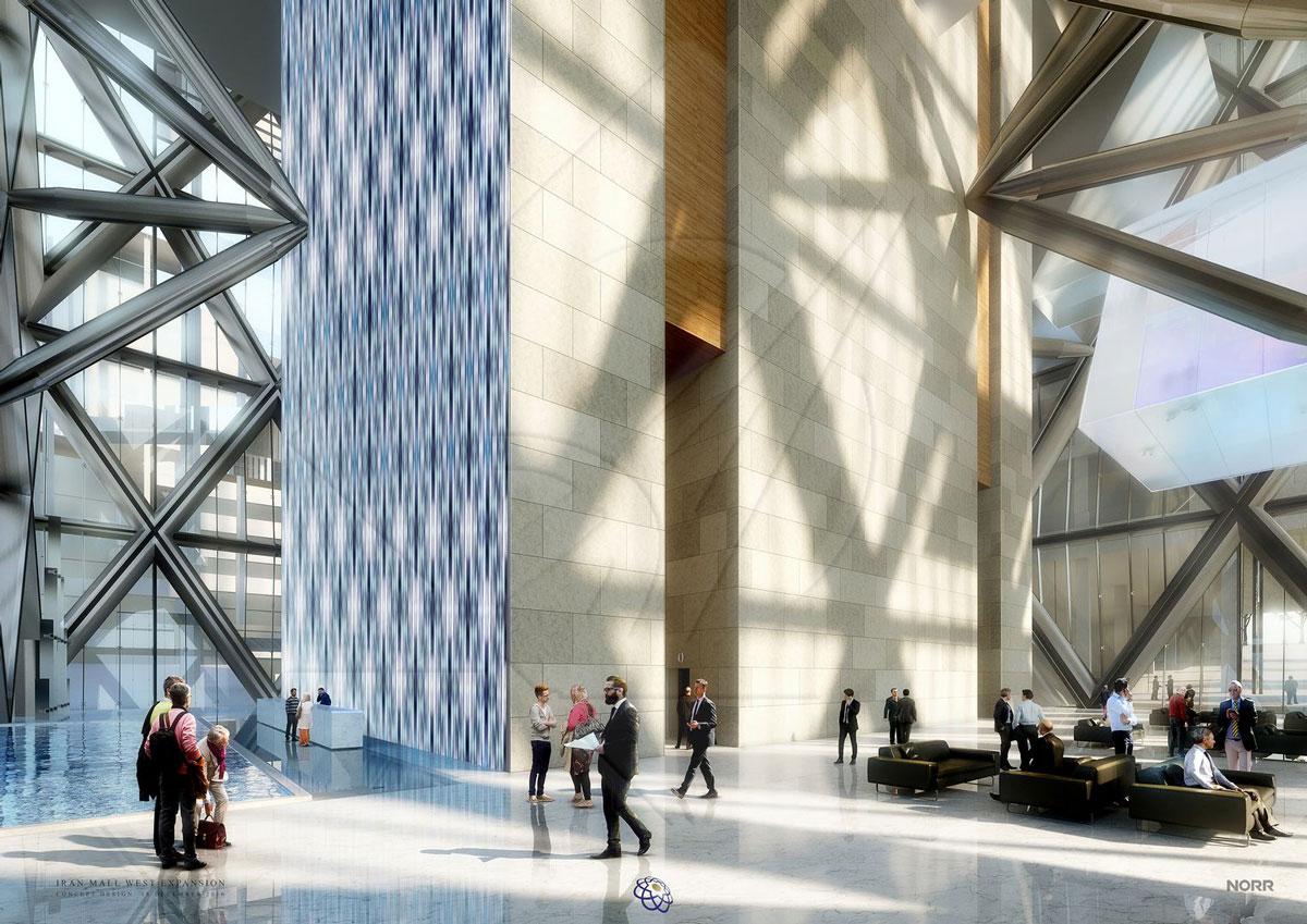 معماری مجتمع تجاری ایران مال