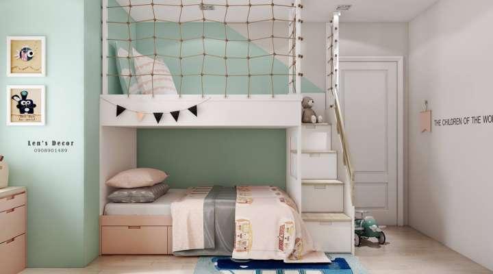 طراحی داخلی اتاق کودک با پالت پاستلی